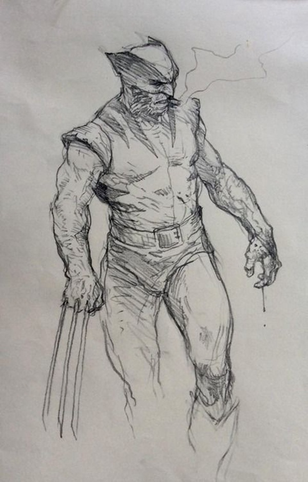 wolverine cartoon character sketches1