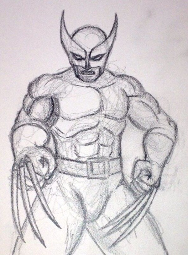 wolverine cartoon character sketches10