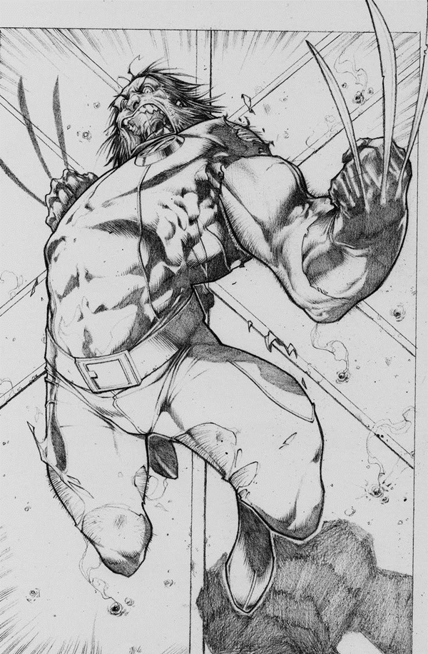 wolverine cartoon character sketches12