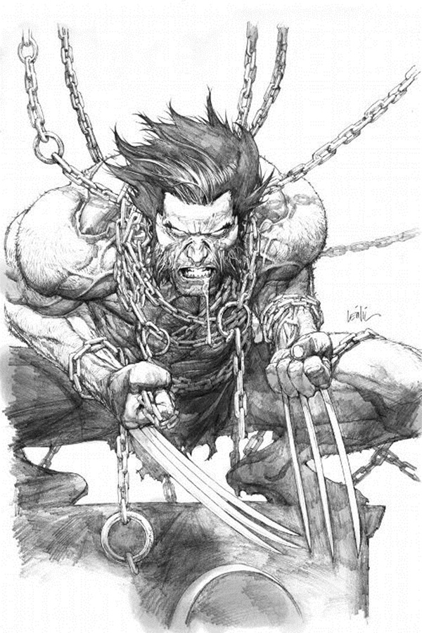 wolverine cartoon character sketches13