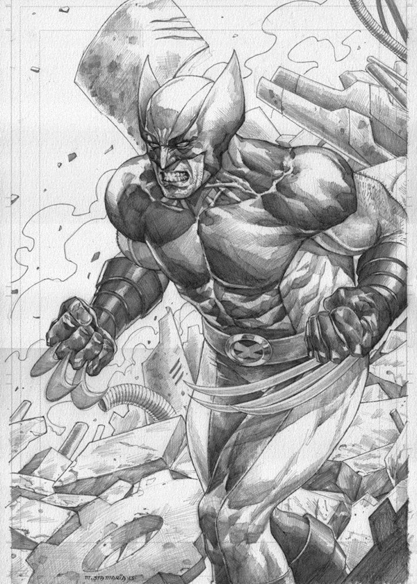wolverine cartoon character sketches14