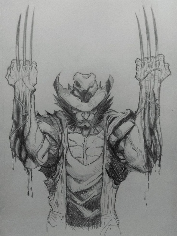 wolverine cartoon character sketches15