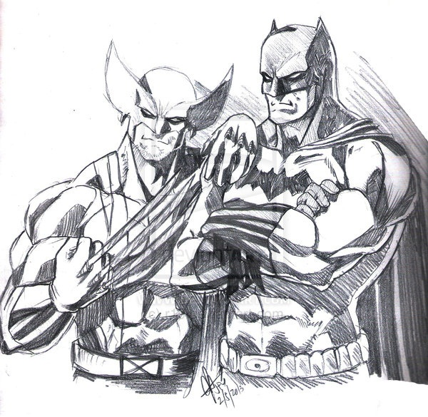 wolverine cartoon character sketches16