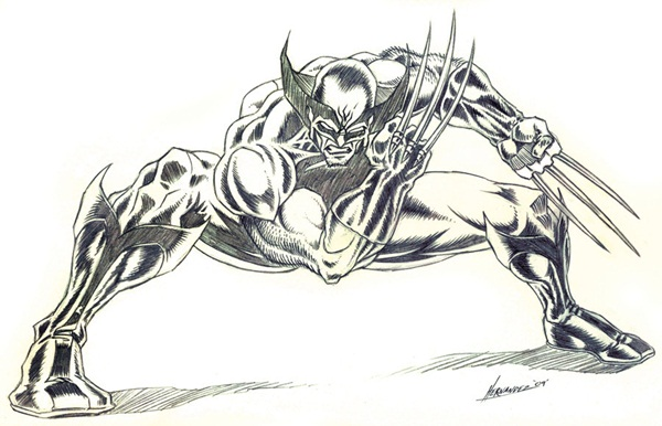 wolverine cartoon character sketches18