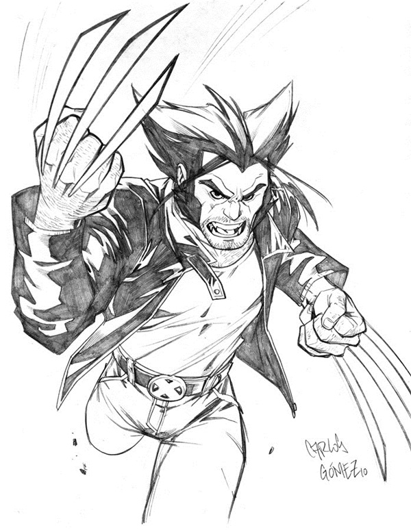 wolverine cartoon character sketches19
