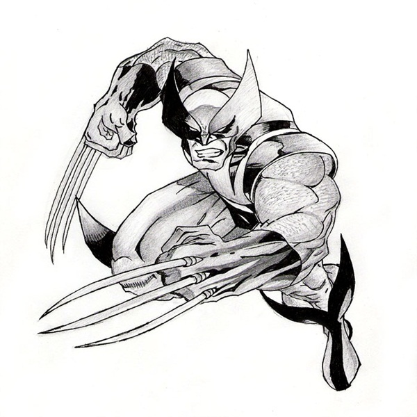 wolverine cartoon character sketches2