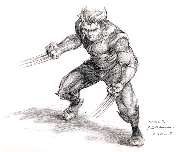 wolverine cartoon character sketches22