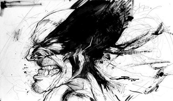 wolverine cartoon character sketches28