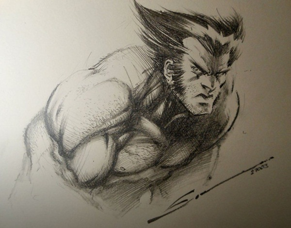 wolverine cartoon character sketches29
