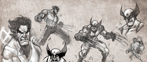wolverine cartoon character sketches3