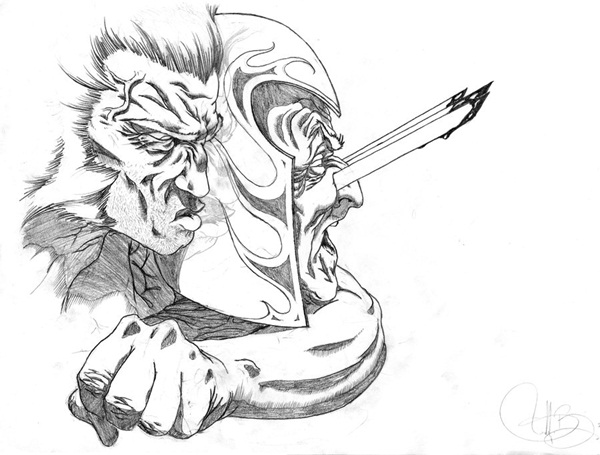 wolverine cartoon character sketches4