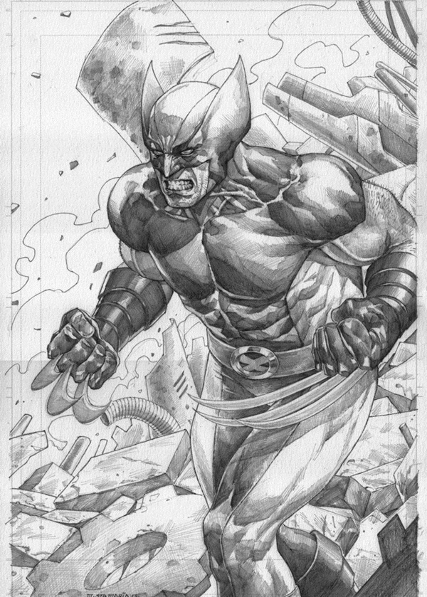 wolverine cartoon character sketches5