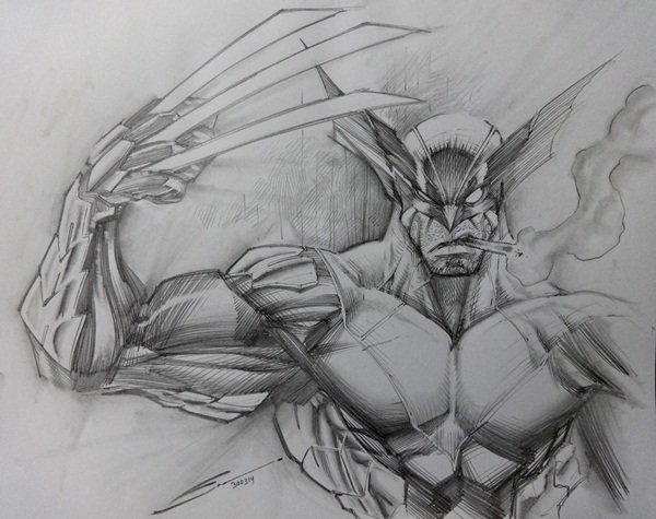 wolverine cartoon character sketches6