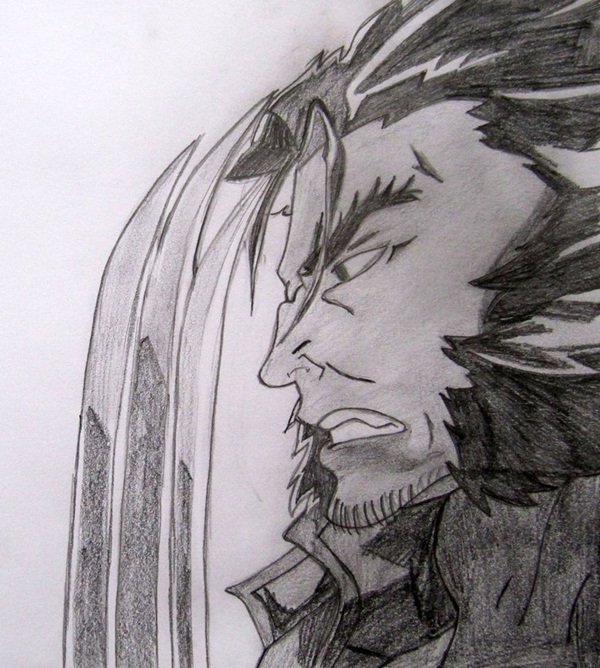 wolverine cartoon character sketches9