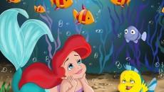 cute little mermaid wallpaper