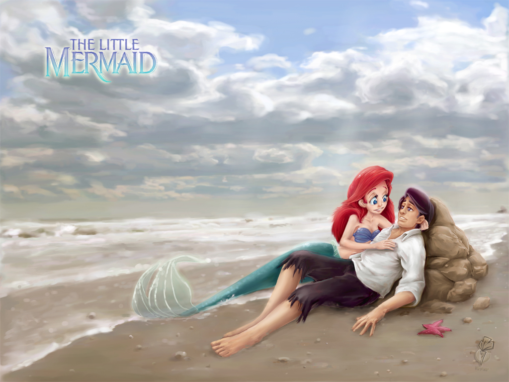 cute little mermaid wallpaper for desktop (29) - cartoon district