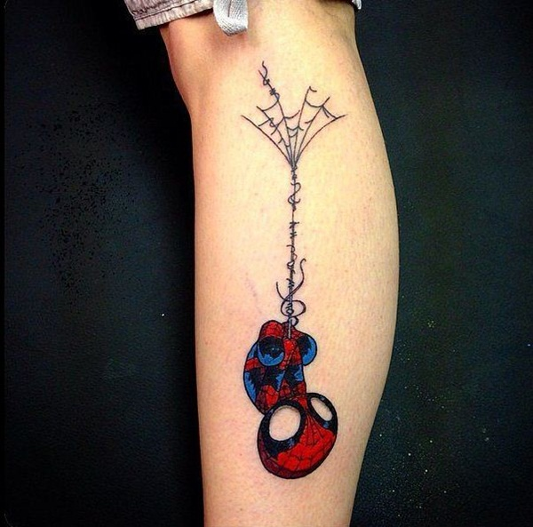Best Free Spiderman Tattoo designs and Ideas15-015