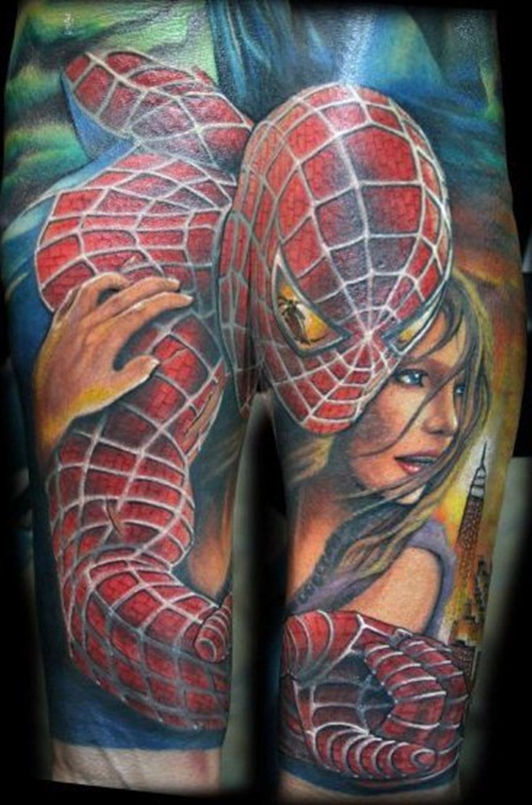 Best Free Spiderman Tattoo designs and Ideas17-017