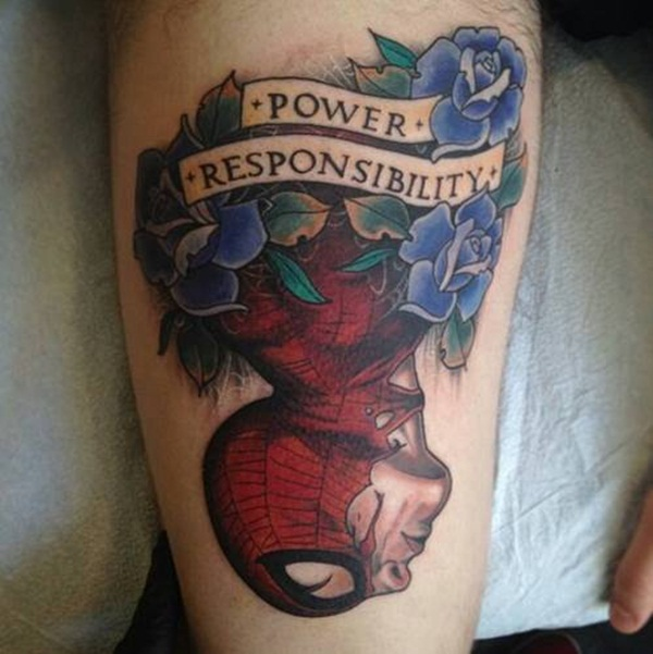 Best Free Spiderman Tattoo designs and Ideas18-018