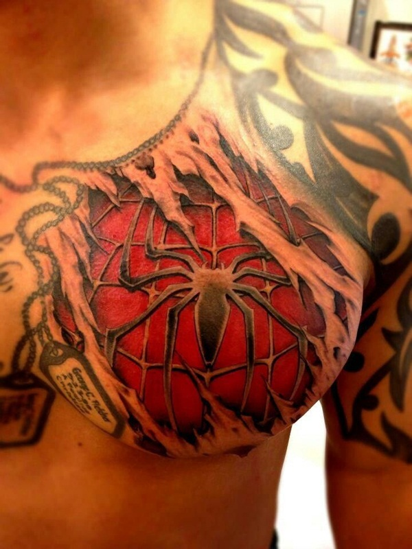 Best Free Spiderman Tattoo designs and Ideas30-030