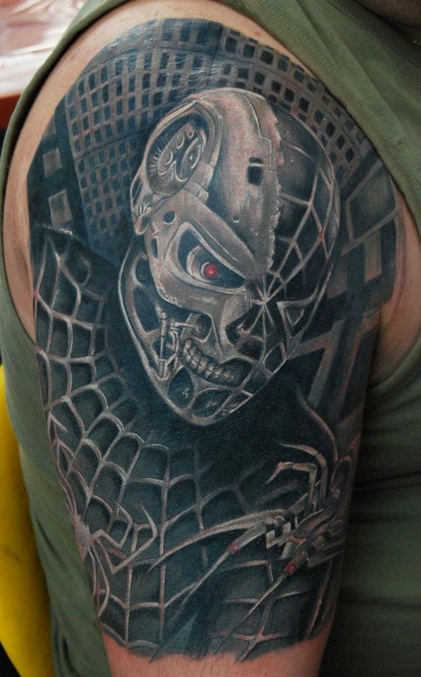 Best Free Spiderman Tattoo designs and Ideas31-031