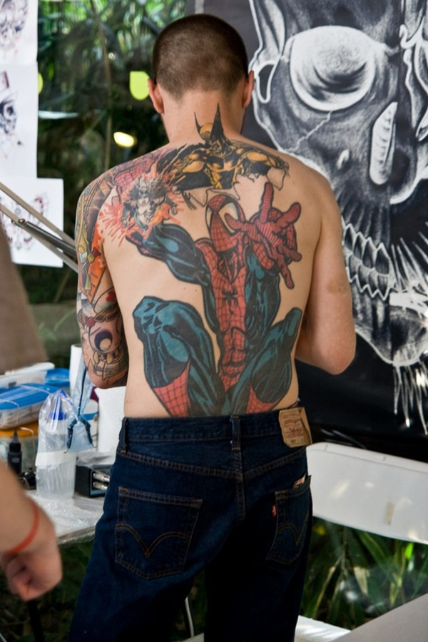 Best Free Spiderman Tattoo designs and Ideas7-007