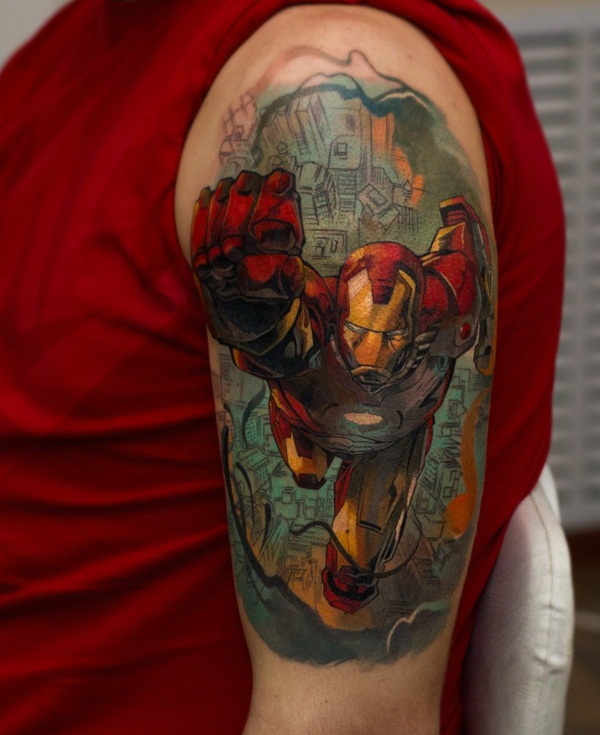 Best Ironman Tattoos Designs and Ideas17-017
