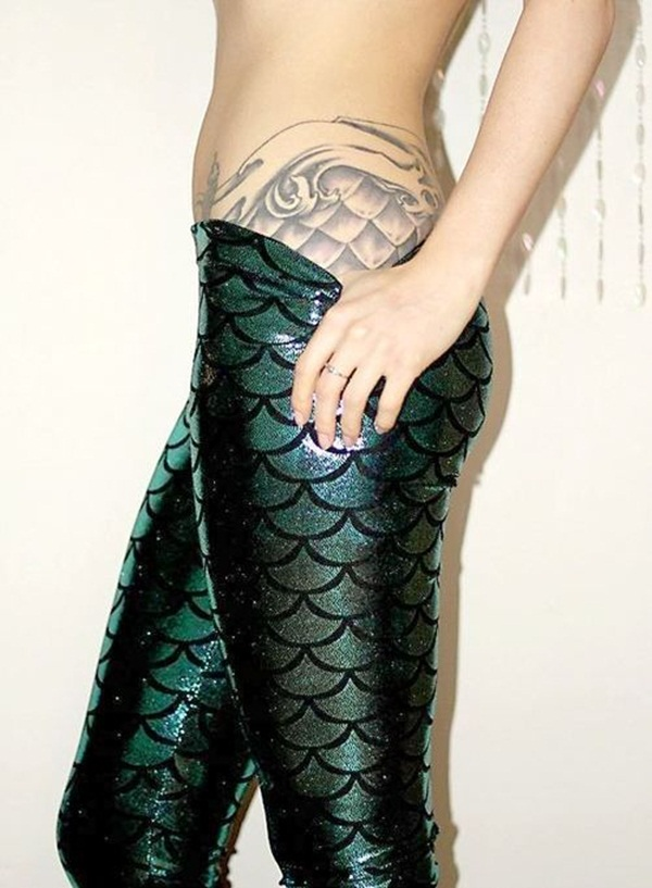 Little Mermaid Tattoo Designs and Ideas for Girls24-023