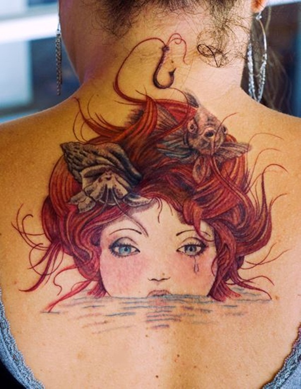 Little Mermaid Tattoo Designs and Ideas for Girls31-030