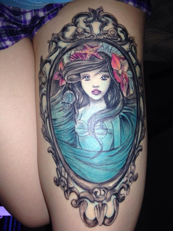 Little Mermaid Tattoo Designs and Ideas for Girls33-032