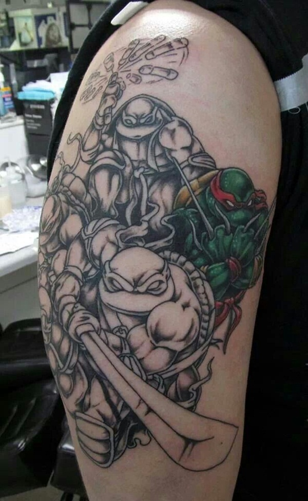 Ninja Turtle Tattoos Designs and Ideas27-027