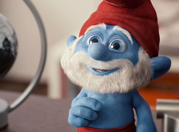 Papa Smurf voiced by Jonathan Winters in Columbia Pictures' THE SMURFS.