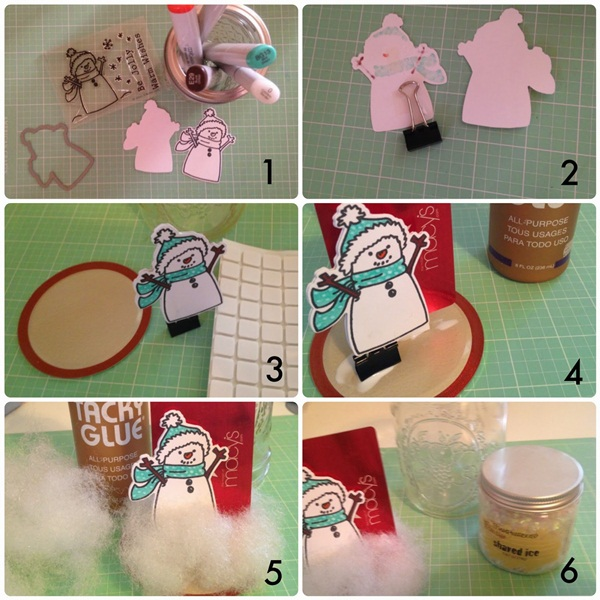 DIY Christmas Snow Globe Ideas for Kids10