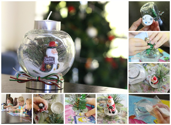 DIY Christmas Snow Globe Ideas for Kids12