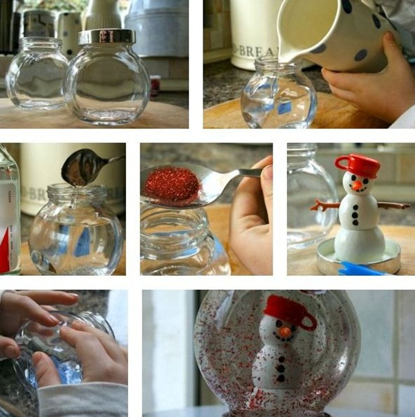 DIY Christmas Snow Globe Ideas for Kids18