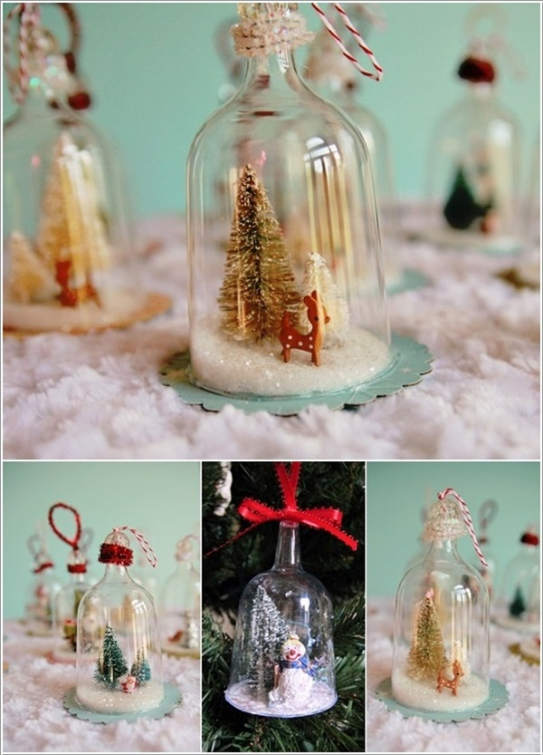 DIY Christmas Snow Globe Ideas for Kids24