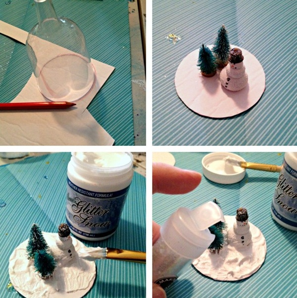 DIY Christmas Snow Globe Ideas for Kids29
