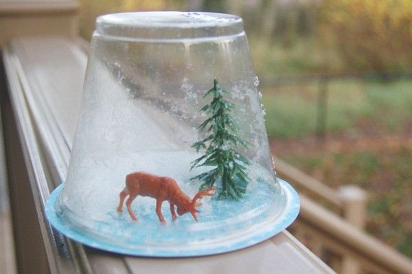 DIY Christmas Snow Globe Ideas for Kids30