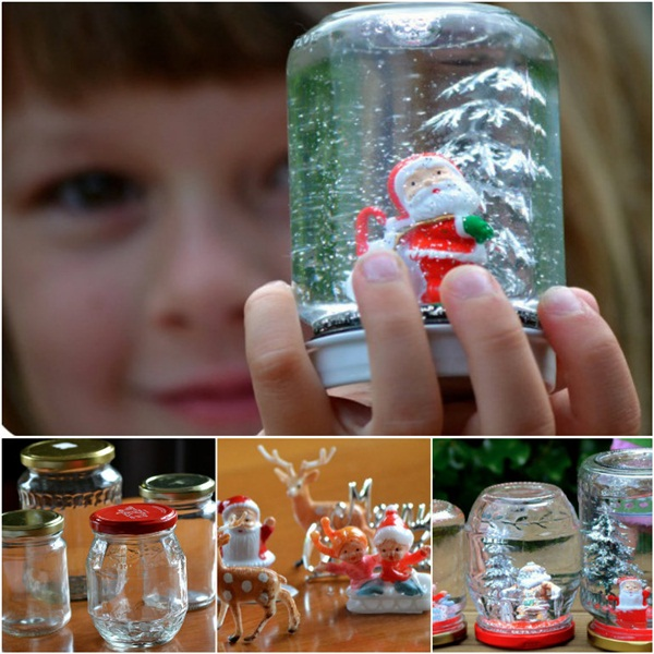 DIY Christmas Snow Globe Ideas for Kids31