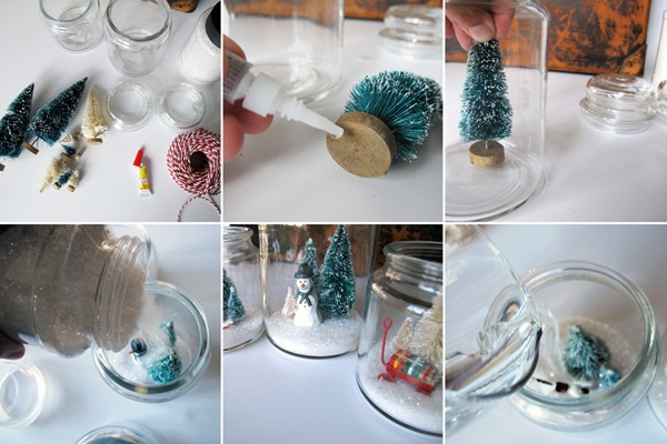 DIY Christmas Snow Globe Ideas for Kids32