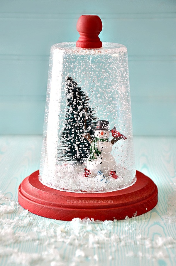 DIY Christmas Snow Globe Ideas for Kids36