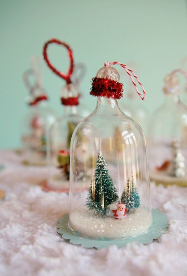 DIY Christmas Snow Globe Ideas for Kids37