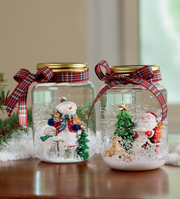 DIY Christmas Snow Globe Ideas for Kids38