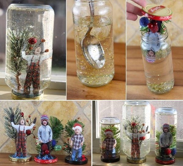 DIY Christmas Snow Globe Ideas for Kids7