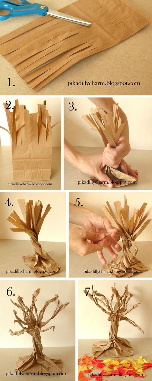 Украшения на деревья своими руками из бумаги