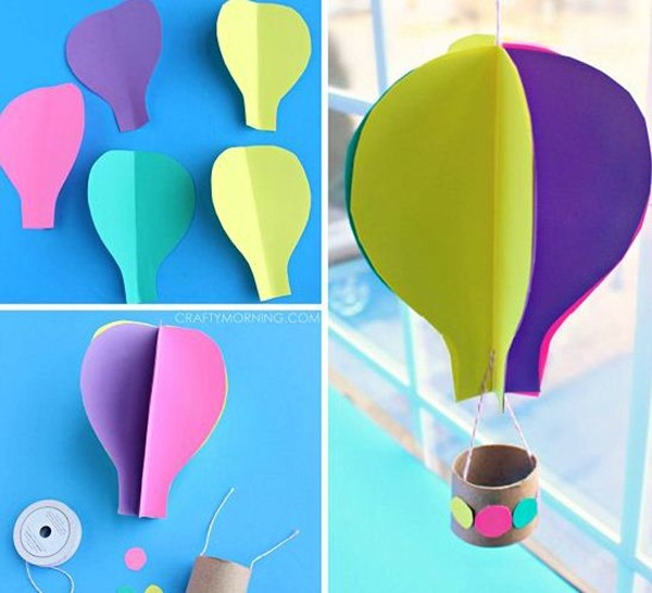 40 diy paper crafts ideas for kids for Creative craft ideas with paper