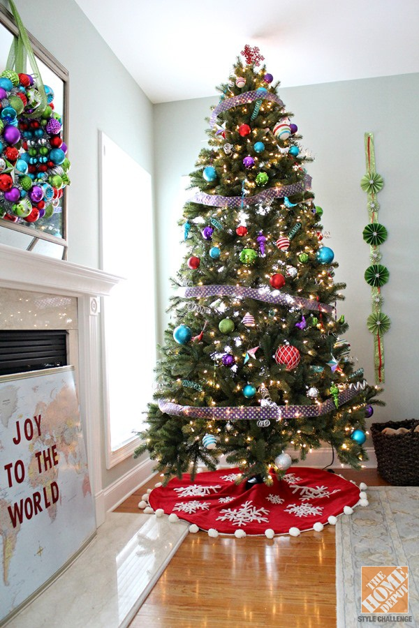 40 easy christmas tree decorating ideas for Non traditional christmas tree ideas