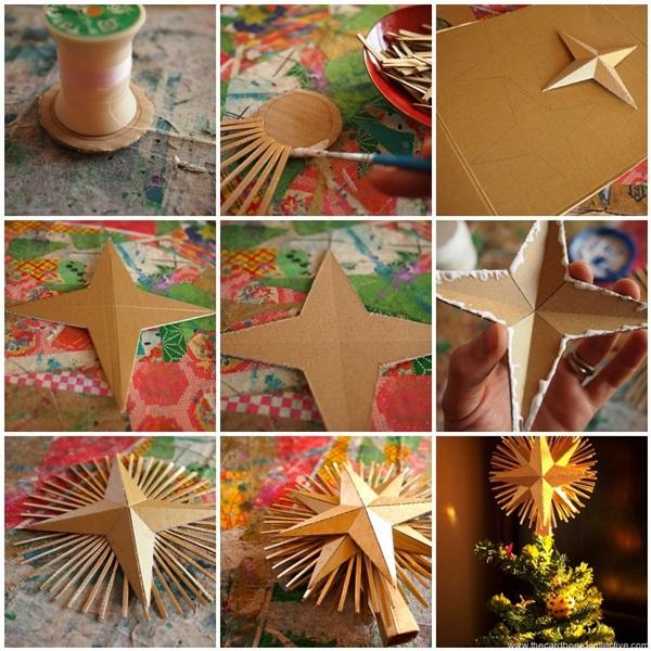 Поделки из картона звезда шар
