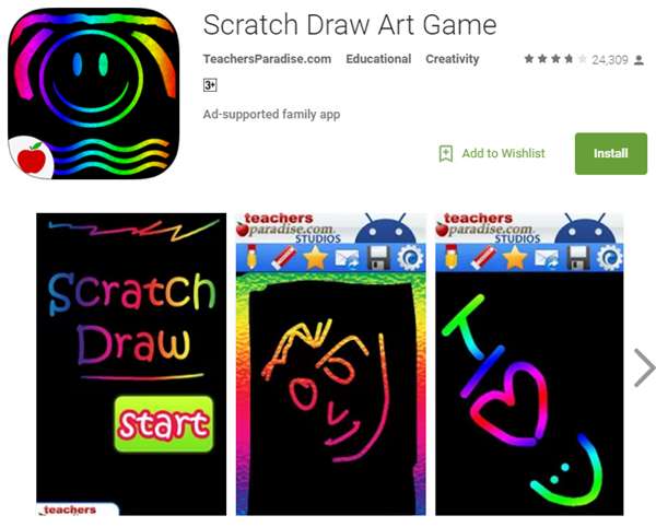 Line Drawing Game App : Top best android apps for kids in