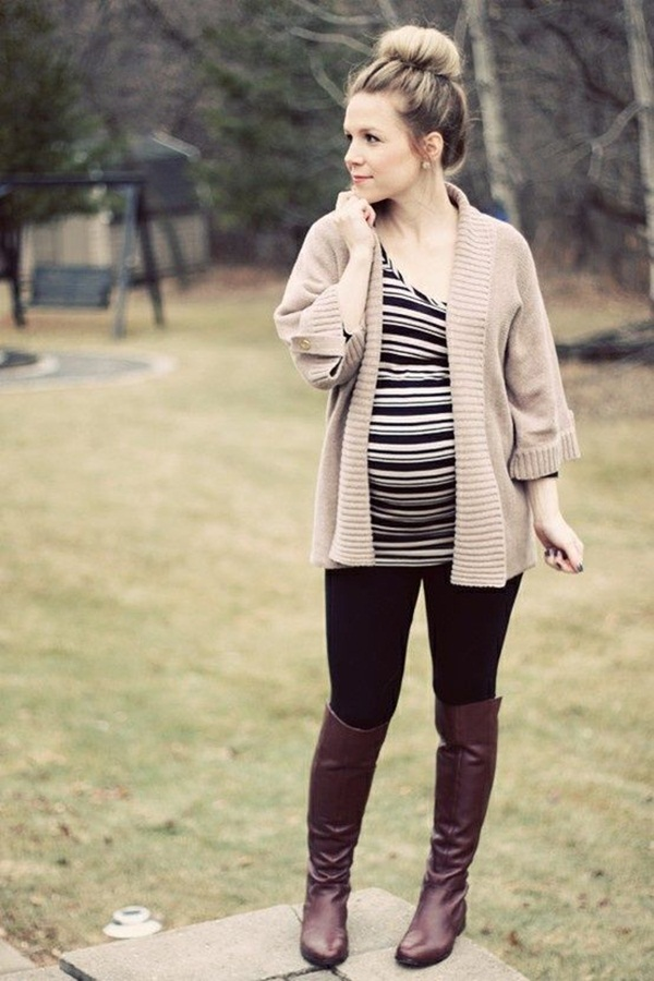 Pregnant Fashion Winter Outfits1